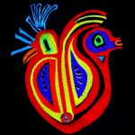 Heart bird (machine embroidered and quilted)