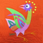 St Josephs bird (machine embroidered and quilted)