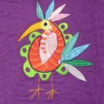 Saint Josephs ward bird (machine embroidered and quilted)