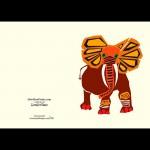 Daddy Elephant. Blank inside  5x7
