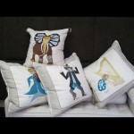 Pillows embroidered