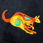 Leaping kangaroo