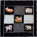 Kids flannel quilt/embroidery