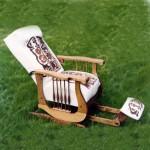 Antique chair/silkscreened