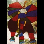 Stained glass elephant