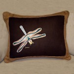 Flying dragonfly embroidered