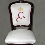 Embroidered logo (chair by Tecnosedia)